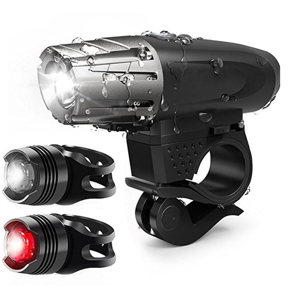 USB Rechargeable LED Bike Bicycle Headlamp Cycling Head Lihgt Lamp Flashlight ms