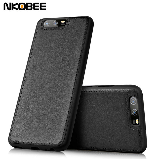new products bb519 79cee US $4.99 |NKOBEE For Huawei P10 Case Luxury Leather Case For huawei P10  Plus Hard Cover For Huawei P10 P10 Plus Mobile Phone Accessories-in Fitted  ...