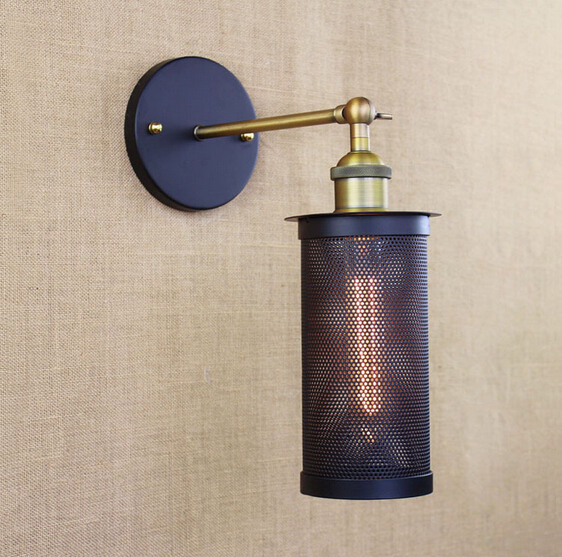 ФОТО RH Loft American Style Vintage Wall Lamp Fixtures For Home Indoor Lighting Industrial Bedside Light Applique Murale Luminaire