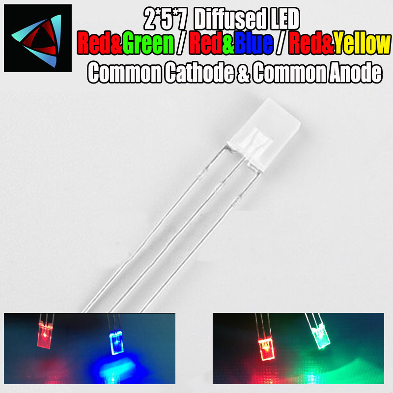 10x LED 5mm bicolor dual RED-BLUE WC dual COLOUR RED-BLUE CENTRE ANODE