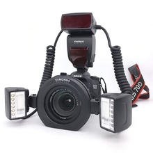 YONGNUO YN24EX e TTL twin Lite Макро Вспышка Speedlite для камер Canon с двойной 2 шт. головка вспышки + 4 шт. Адаптер Кольца