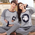 Cartoon Baymax couple pajamas autumn thick cotton long-sleeved pyjamas men plus size home service fashion tracksuit for women