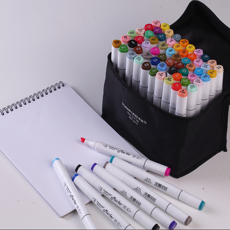CHENYU 30/40/60/80/168Colors Alcohol Based Pen Markers Dual Head Sketch Markers Brush Pen For Draw Manga Design Art Supplies