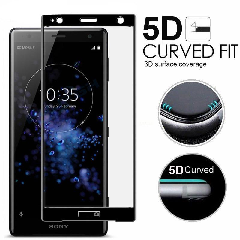 9H 5D Tempered Glass LCD Curved Full Screen Protective Film For Sony Xperia XZ3 XZ2 XZ1 C For XA XA1 XA2 XA3 Plus XA1 XA2 Ultr