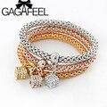 GAGAFEEL 2016 3PCS/set Box Charms Bracelet & Bangle Friendship Bracelets Bijioux Pendant Bracelets Pulseira Feminina