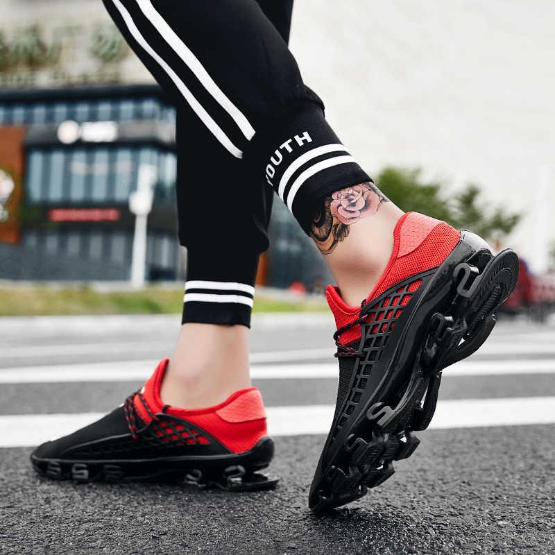 2019 кроссовки мужская обувь повседневная лезвие кроссовки амортизация уличная спортивная обувь легкие кроссовки весна Chaussures для мужчин большой Sz