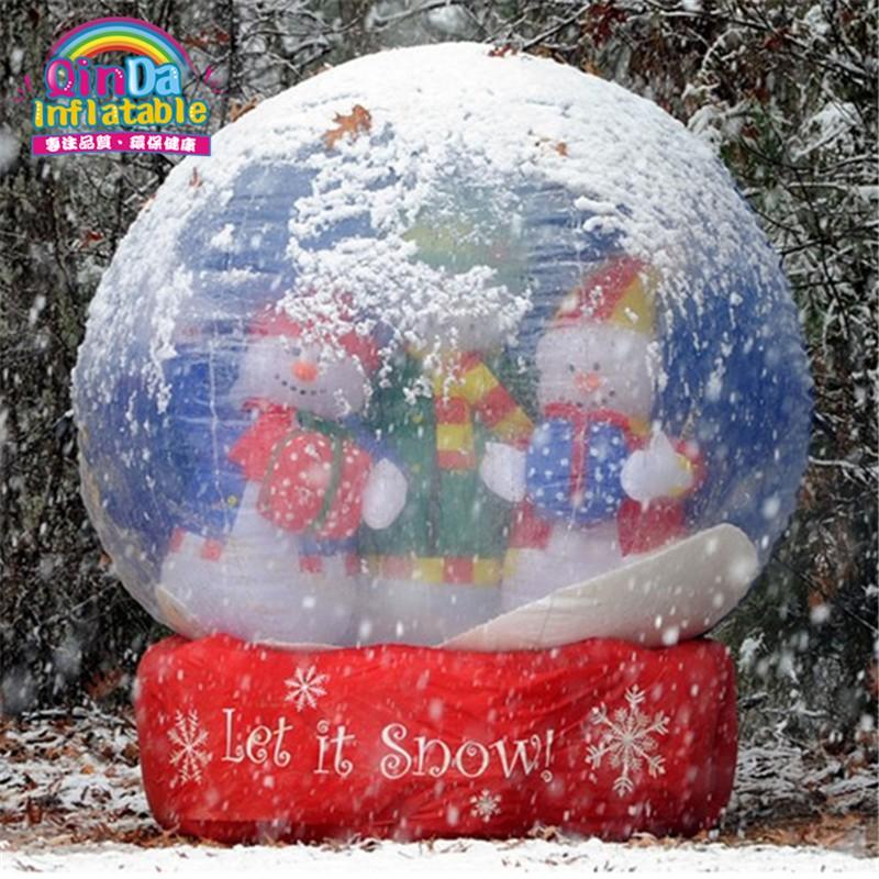 inflatable snow globe03