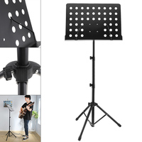Aluminum Alloy Thickening Music Stands Tripod Stand Holder Height Adjustable