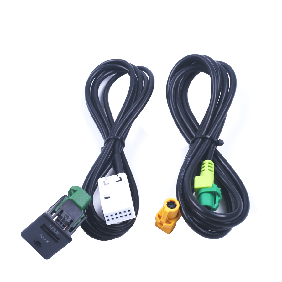 for <font><b>VW</b></font> <font><b>GOLF</b></font> MK6 JETTA MK5 Sagitar Bora RCD510 RNS510 RNS315 RCD500 RNS300 RCD300 AUX <font><b>USB</b></font> switch image