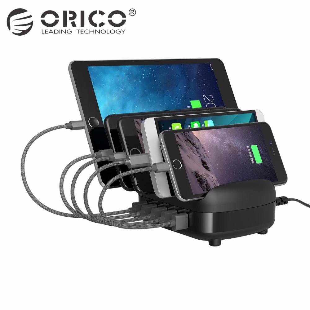 ORICO 5 Ports USB Ladestation Dock mit Halter 40 Watt 5V2. 4A * 5 USB Lade für Smartphone Tablet PC Gelten für Home Öffentlichen
