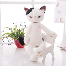 about 40cm white cat plush toy creative design cat doll soft pillow toy,birthday present Xmas gift c918