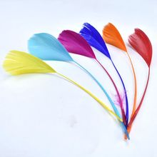 20pcs/lot beautiful colored goose wing feathers for crafts13-18cm DIY natural jewelry making Party decorative plume