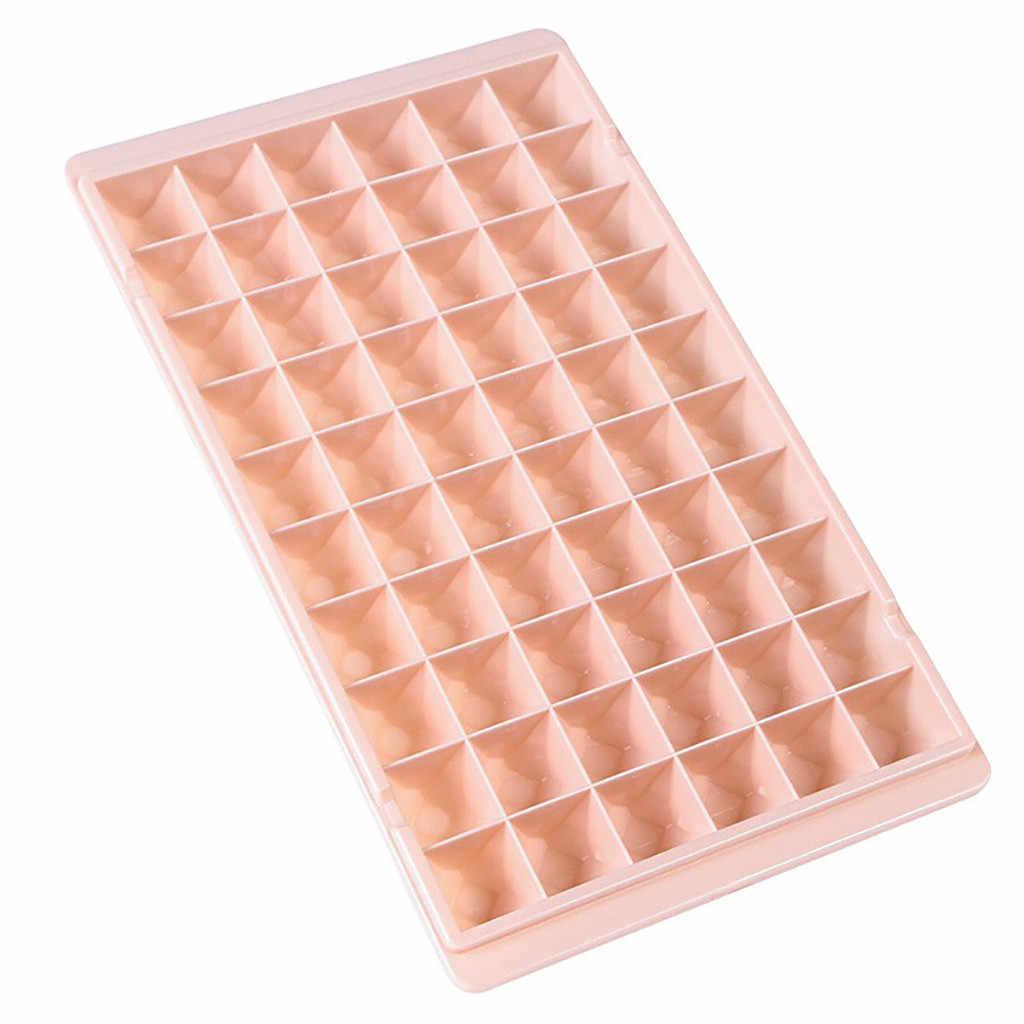 60 sqiares pequena bandeja cubo de gelo cubos congelados bandeja silicone fabricante de gelo molde dropshipping geladeira gadgets cozinha acessórios