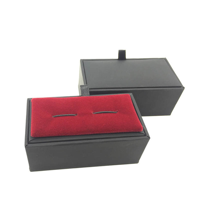 Red Cufflink Case Box Display