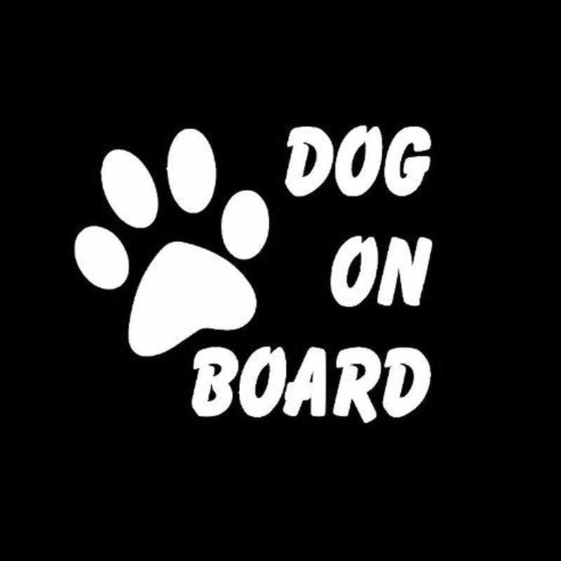 Car-Styling Car Stickers 133*47mm Dog In Car Sticker Vinyl Decal Pet On Board Auto Warning Truck Car Sticker Black/White