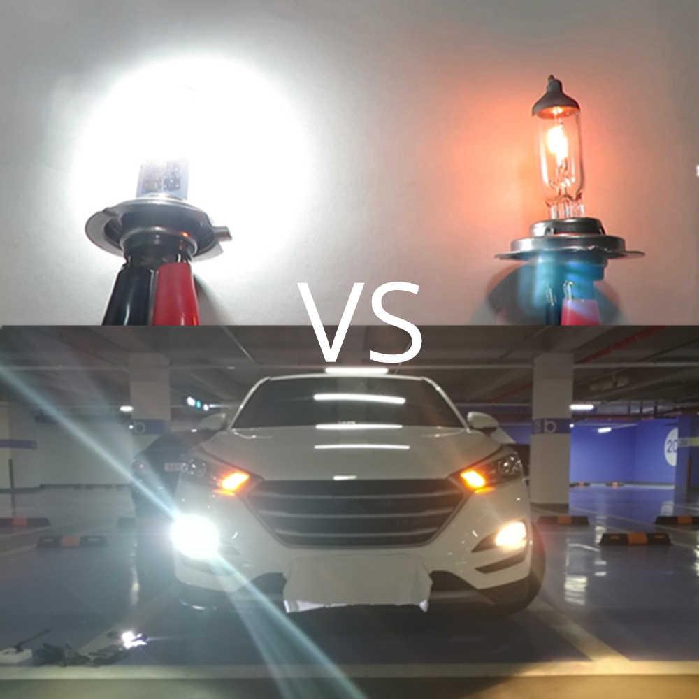 Wljh 2x авто свет светодио дный H7 H8 H27 880 881 9006 шт. X 24 Вт T15 W16W 921 светло Обратный Хвост Туман лампа день Running светодио дный DRL свет