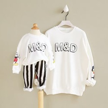 2016 New spring Casual Mom And Child Hoodies Spring Autumn and Baby Set Family Look Girls Boys family clothing