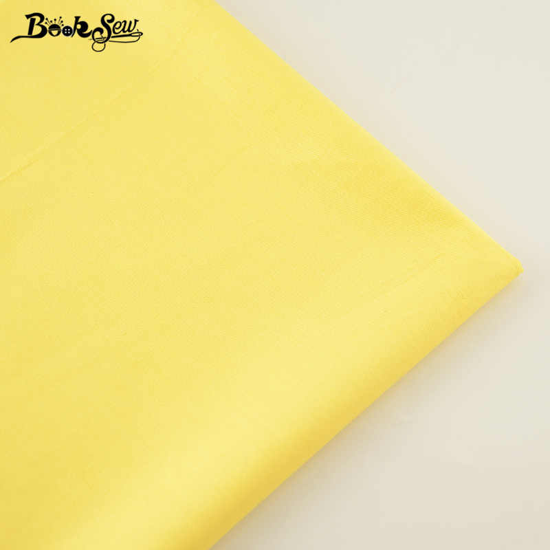 High Quality Classic  Yellow Color  Cotton Fabric Twill Fat Quarter Home Textile Material Sewing Cloth Tela For Bed Baby