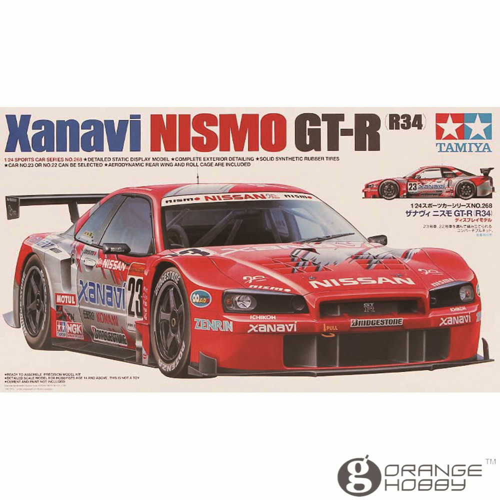 OHS Tamiya 24268 1/24 Xanavi Nismo GTR R34 Scale Assembly Car Model Building Kits купить в Москве 2019