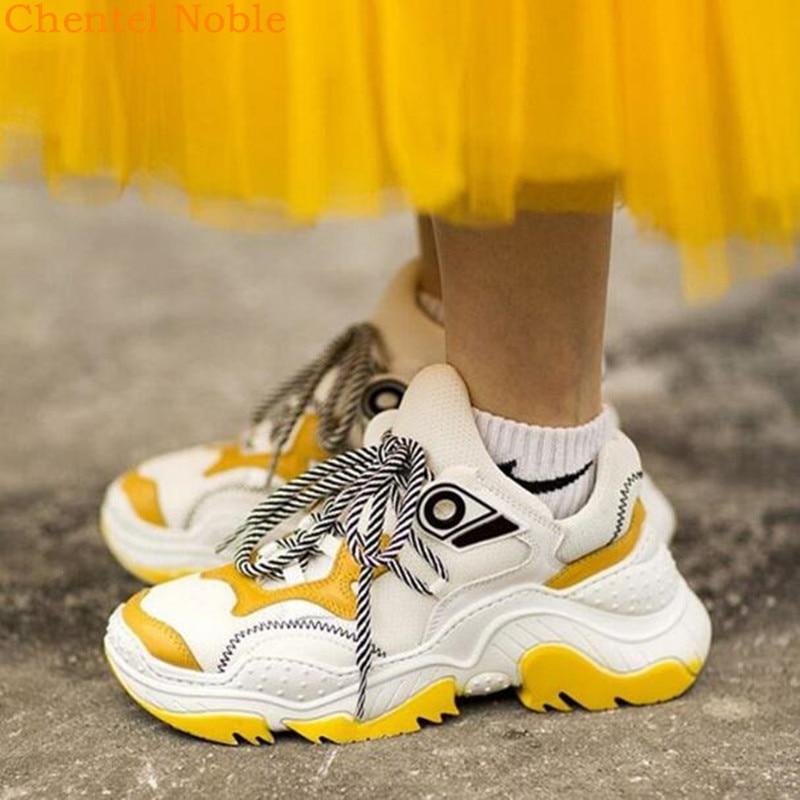 Femmes Qualité Picture Chaussures Picture Up as Marque Zapatillas Mode Haute Femme Mujer 2018 Cuir Casual Luxe Nouveau De Dentelle Maille Et Sneaker As ppwqRnOTx7
