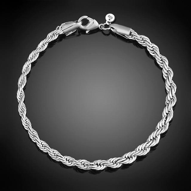 Классические браслеты с закручивающейся цепочкой браслет для