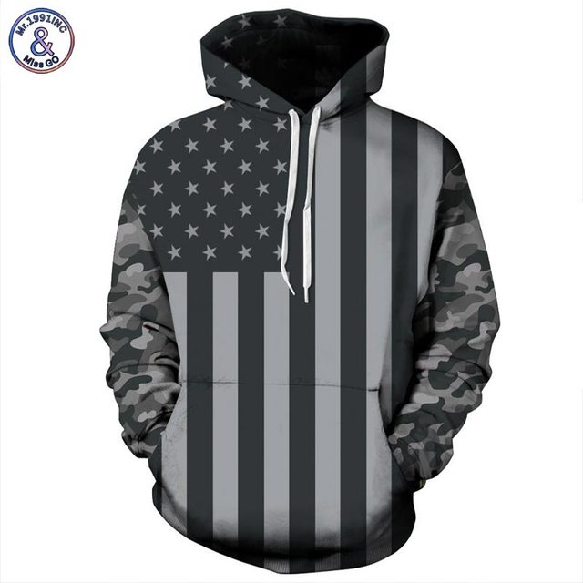 USA Flag Hoodies Men/women 3d Sweatshirts Print Striped Stars America Flag Hooded Hoodies Tracksuits Pullover