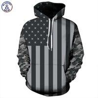 Headbook USA Flag Hoodies Men Women 3d Sweatshirts Print Striped Stars America Flag Hooded Hoodies Tracksuits