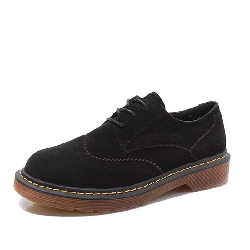 Abramenko Oxford Sapatos Mujer En Brogue Véritable Plus bleu Noir Appartements Taille Femininos Chaussures Femmes Cuir gris 43 Sapatilhas Zapatos r57rwq8