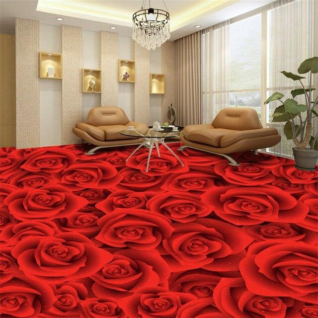 Beibehang 3d Bodenbelag Rose Wohnzimmer Schlafzimmer Fliesen Malerei Papel  De Parede 3d Tapete Für Wohnzimmer Foto