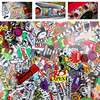 Car Styling Doodle Sticker Bomb Graffiti Skateboard Stickers Snowboard Motorcycle Bicycle Luggage Bags Accessories Guitar Decal