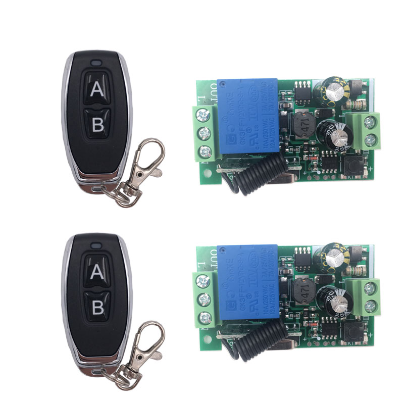 Remote Control 433Mhz 85 250V 1CH rf Switch Relay Receiver and Transmitter for Garage Remote Control and Remote Light Switch in Remote Controls from Consumer Electronics