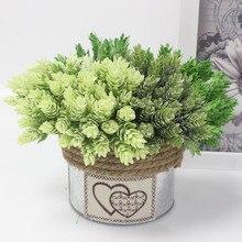 Имитация зеленого растения ананас трава украшения искусственные растения с цветами домашний декоративный столик