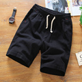 2016 men boutique summer slim elastic waistline leisure linen sports shorts/Male pure color leisure harlan shorts/Large size 5XL