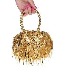 2016 neue frauen Perlen Griff Kleine Taschen Damen Perlen Pailletten Totes Handtaschen/Geldbörsen Clutch Hochzeit Taschen Geldbörsen bolsas
