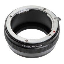 Переходное кольцо для объективов FOTGA кольцо-адаптер для объектива Pentax PK K Крепление объектива однообъективной зеркальной камеры Canon EOS EF-M M2 M3 M6 M10 M50 M100