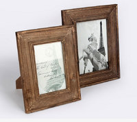 Solid Wood Walnut Veneer Picture Frames Home Decoration Photo Frame Retro Antique Finish