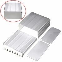 Silver DIY PCB Instrument Enclosure Case 100x100x50mm Aluminum Electronic Project Box 8pcs Screws