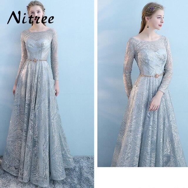 Robe De Soriee Evening Elegante Vestidos de Festa 2018 de Bling Lantejoulas Abaya Dubai Kaftan Abendkleider Formal Prom Vestidos para Casamentos