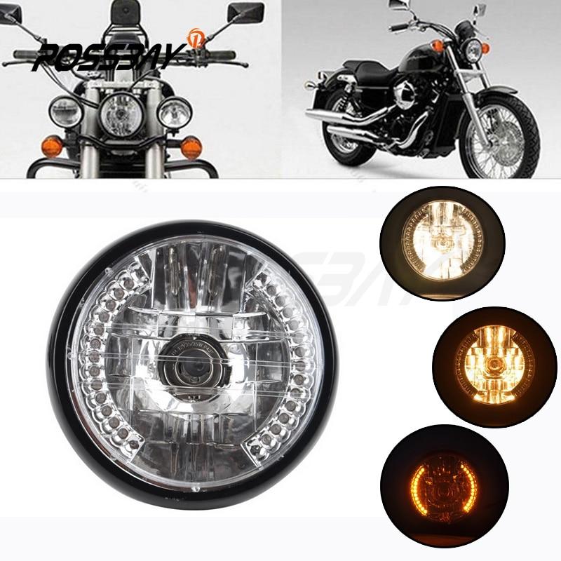 Retro Front Turn Signal Light For Harley Honda Kawasaki Suzuki Yamaha Cafe Racer