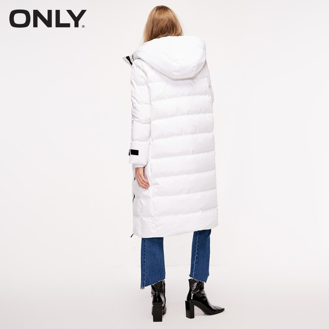 ONLY veste en duvet de canard blanc à capuche en duvet de canard blanc pour femmes | 118312566 2