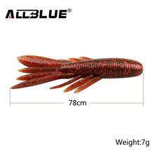 ALLBLUE 6pcs/Lot Custom Baits Super Craws Soft Fishing Lure For Fishing Soft Bait Shrimp Bass Bait Peche Fishing Gear