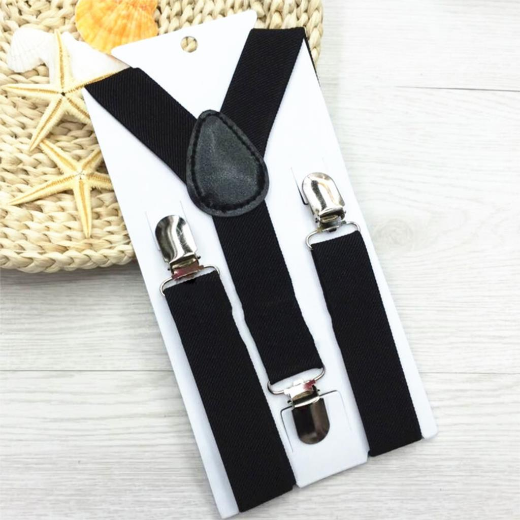 High Elastic Solid Color Kid Suspenders Baby Boy Girl Children Clothing Accessories Suspenders