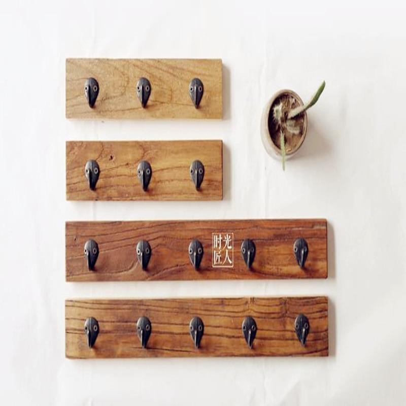 2016 Նոր բարձրորակ VintageCreative Solid Wood Hook - Պահեստավորման եւ կազմակերպումը ի տան