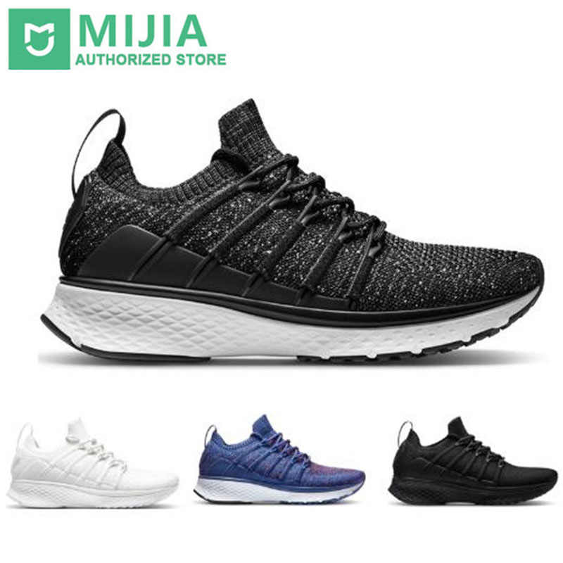 Xiaomi Original Mijia Smart Sports 2 Sneaker Uni-moulding Techinique Fishbone Lock System Elastic Knit Vamp Shock-absorbing Sole