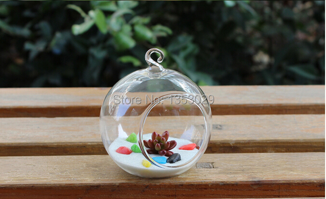 Free Shipping 6cm Diameter Cute Small Clear Vase Handmade Round
