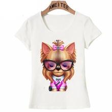 Cool, hipster Yorkie women's shirt