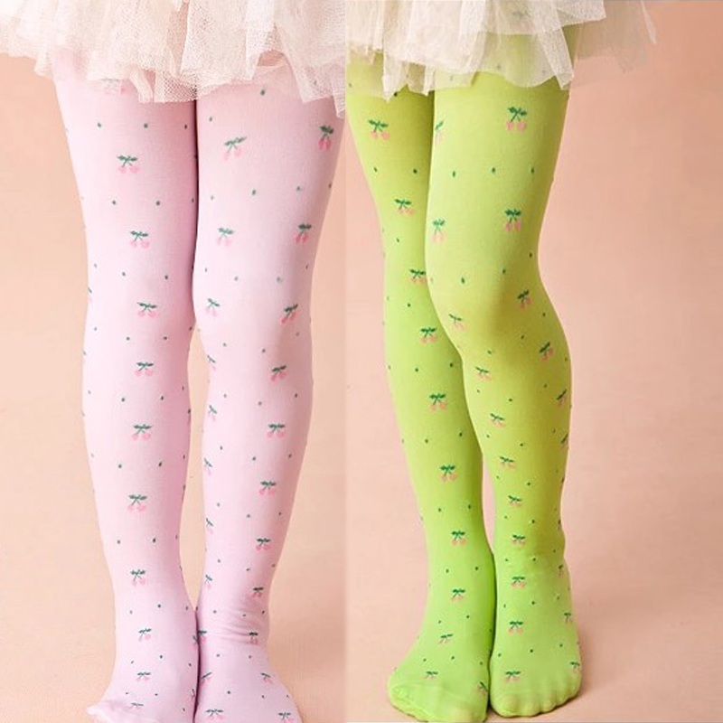 Tights Stockings Summer Cute Cherry Baby Girls Stocking Dancing Children Dress Tights Trousers Pantyhose in Tights Stockings from Mother Kids