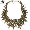 Boho projeto choker mulheres colar delicada escultura artesanal deixa exagerada declaração de estilo vintage colares nk1154