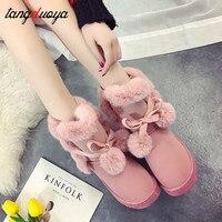 Теплые зимние ботинки; женские зимние ботинки; зимняя обувь; ботильоны для женщин; женская обувь; зимние женские ботинки; 2019 botas feminino
