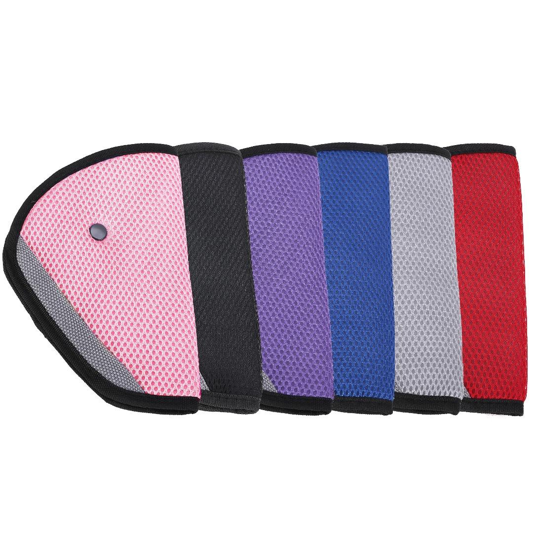 1pc Child Seat Belt Adjustment Holder Car Anti-Neck Neck Baby Shoulder Cover Seat Belt 6 Colors for Kids Safety